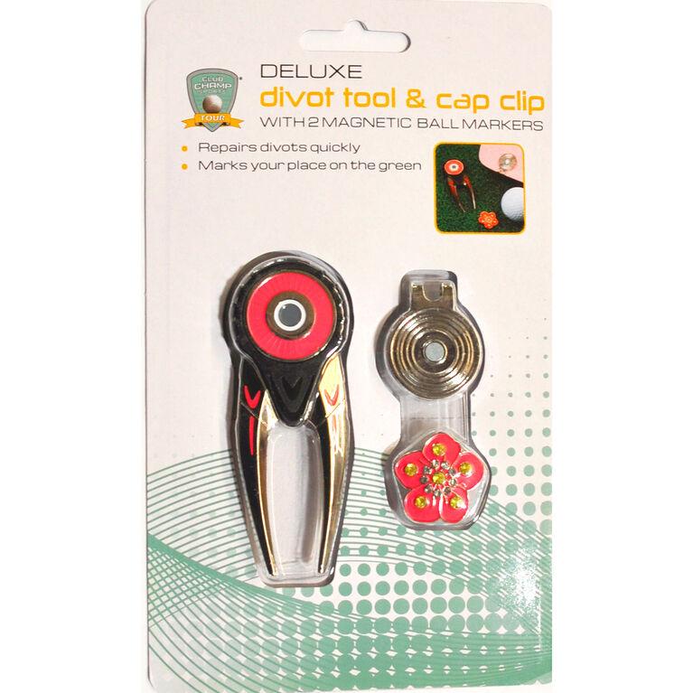 Deluxe Divot Tool & Cap Clip
