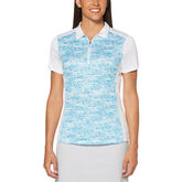 Aqua Group - Pebble Beach Print Short Sleeve Polo Golf Shirt