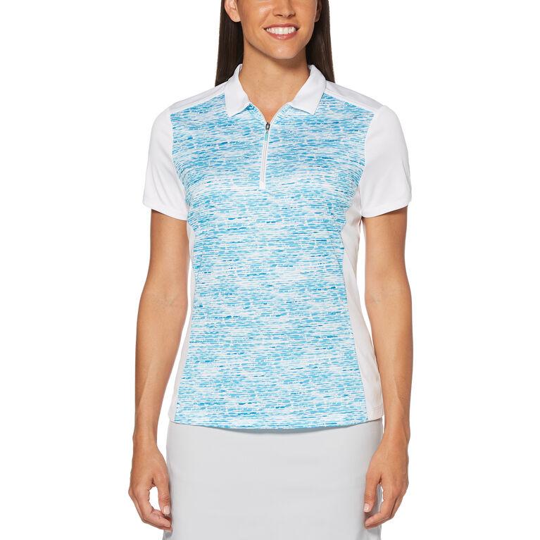 Aqua Group - Pebble Beach Print Short Sleeve Polo Golf Shirt