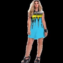 Casa Collection: Peak Print Sleeveless Dress