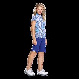Greek Isles Collection: Valentina Short Sleeve Snake Print Mock Shirt