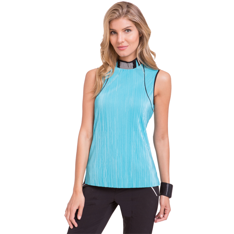 Fiji Collection: Sleeveless Solid Crunch Top