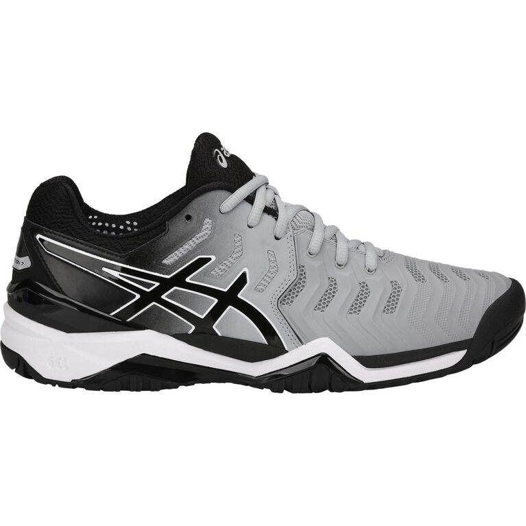 Asics GEL-Resolution 7 Men's Tennis Shoe - Grey/Black