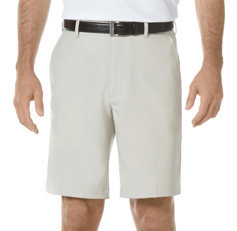 PGA TOUR Flat Front Solid Performance Short - Silver Lining