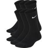 Nike Kids Performance Cushioned Crew Training Socks (6 Pair)