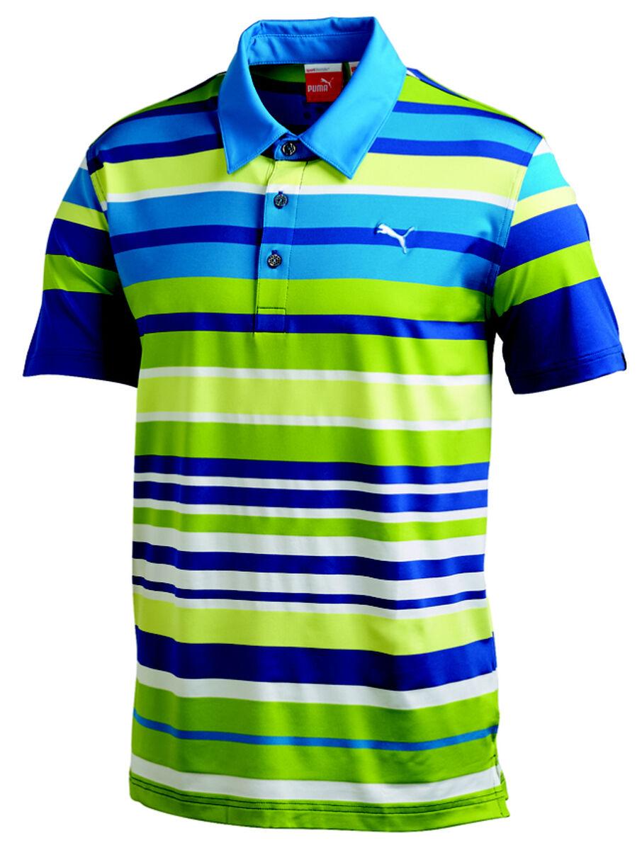 9b4d282c642d Images. PUMA Short Sleeve Roadmap Stripe Polo