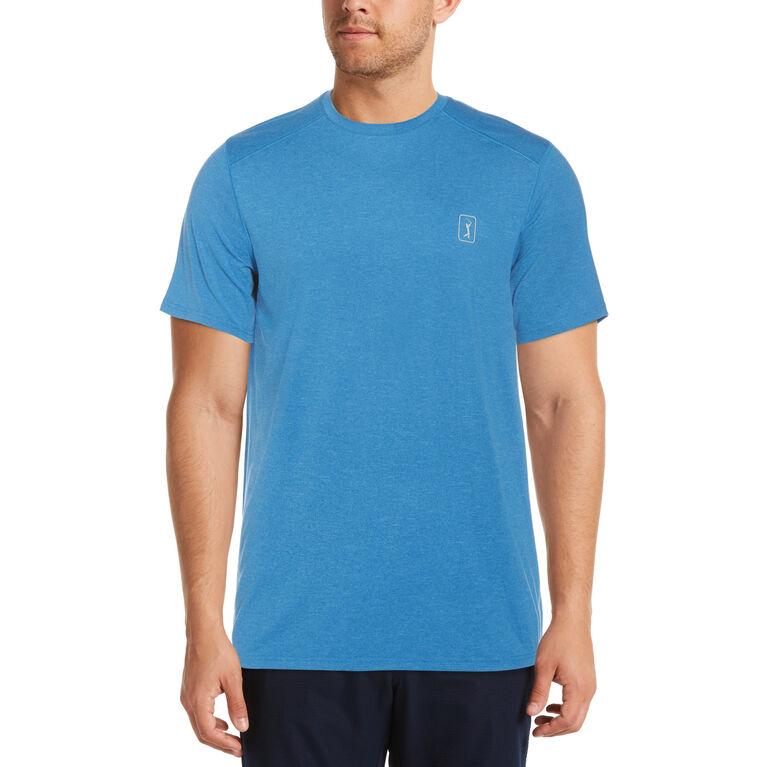 Jersey Crew Neck Short Sleeve Golf Shirt