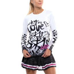 City Graffiti Collection: Long Sleeve Graffitied Crew Neck Top
