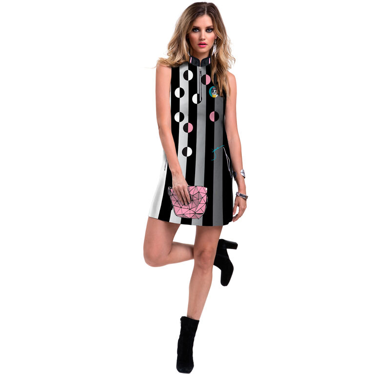 Sweetie Collection: Frenchie Print Sleeveless Dress