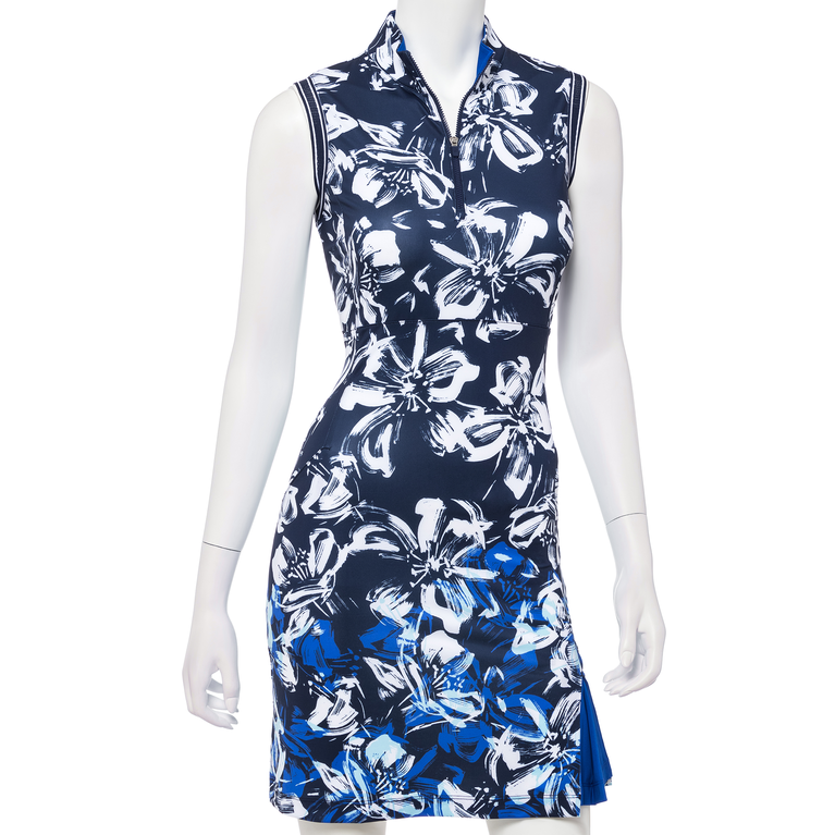 Out of the Blue Collection: Sleeveless Floral Print Dress