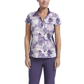 Impatiens Collection: Short Sleeve Floral Polo Shirt