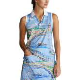Alternate View 2 of Airflow Graphic Print Sleeveless Polo Shirt