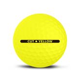 Alternate View 3 of Cut Matte Yellow Golf Balls