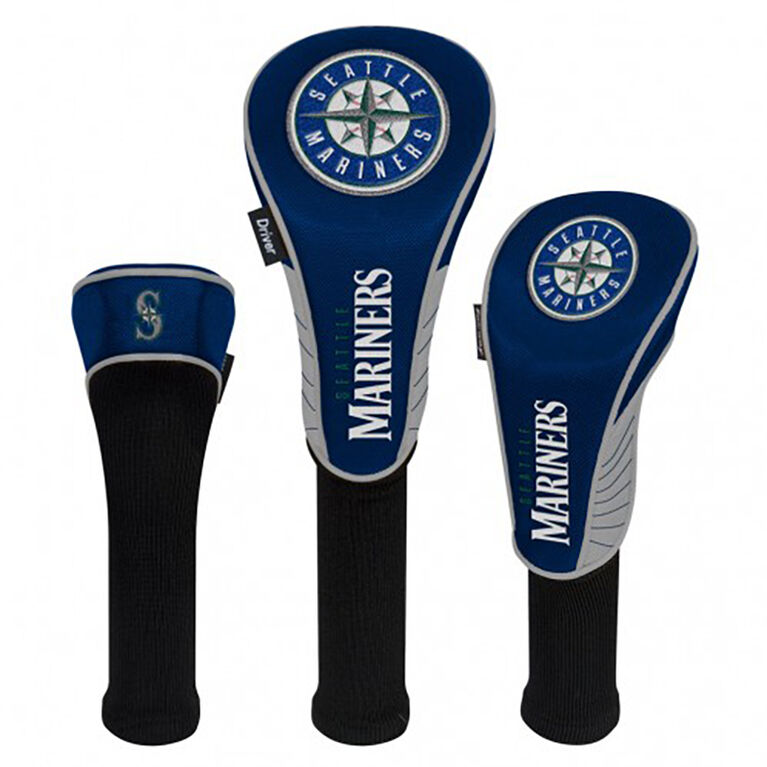 Seattle Mariners Set of 3 Headcovers