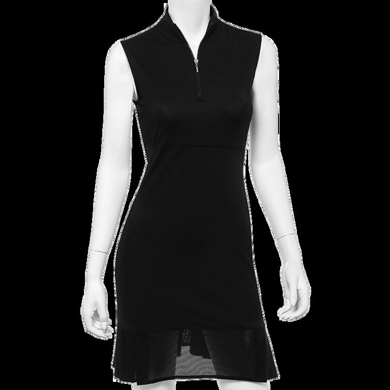 Sleeveless Mesh Pleated Dress