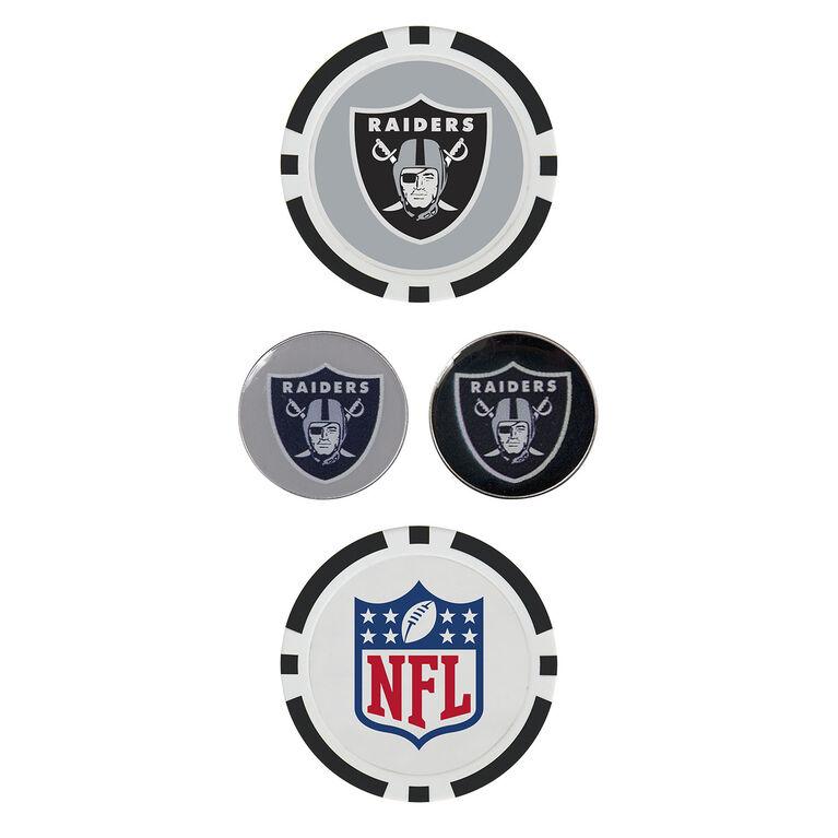 Team Effort Oakland Raiders Ball Marker Set