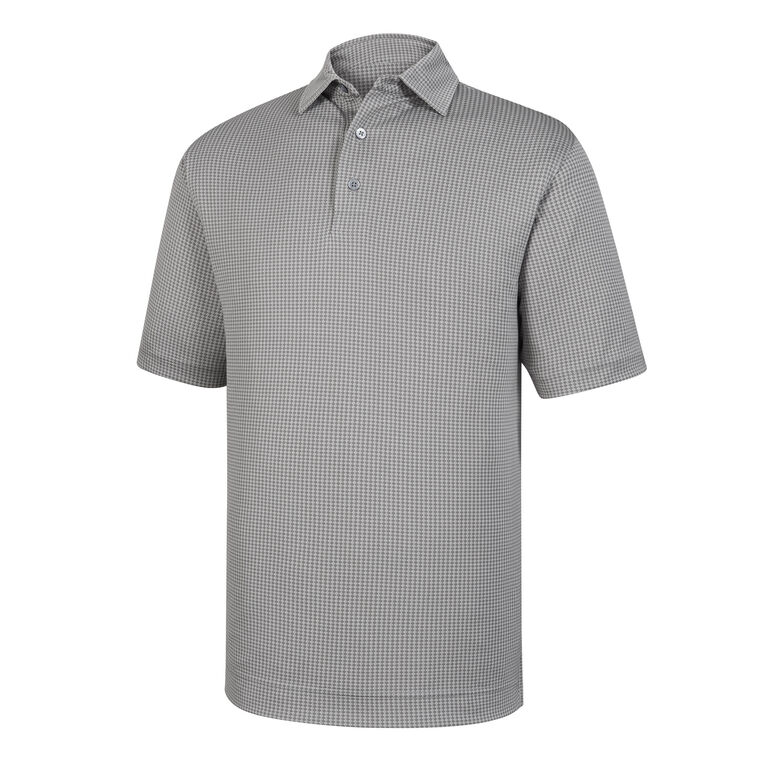 Diamond Jacquard Self Collar Polo