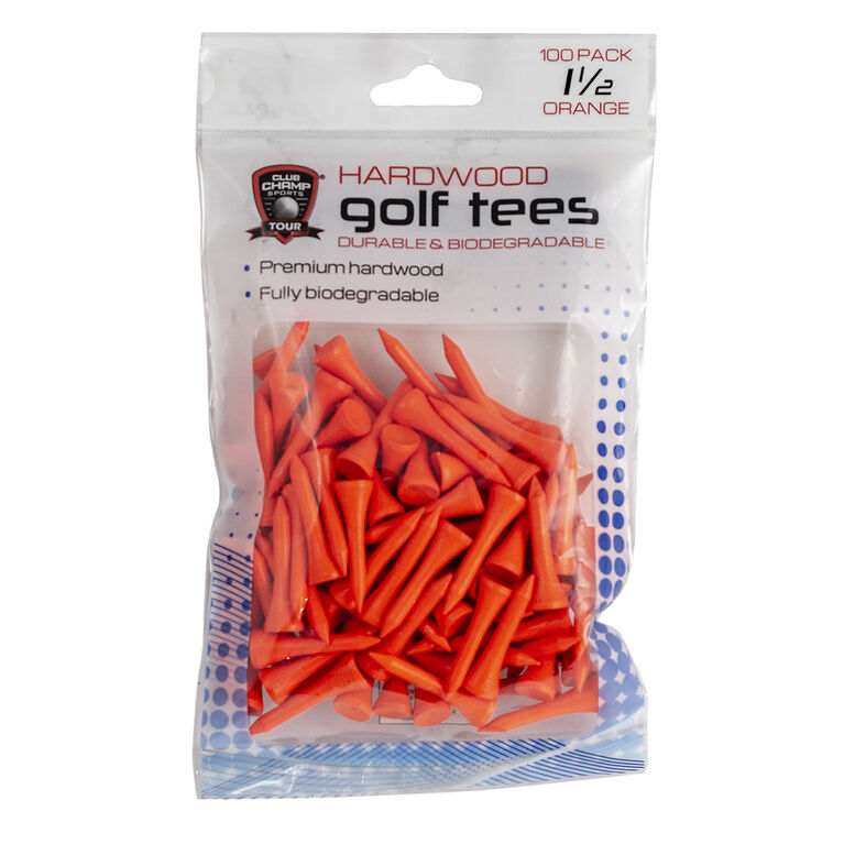 Golf Gifts & Gallery 1.5 inch Hardwood Golf Tee in package