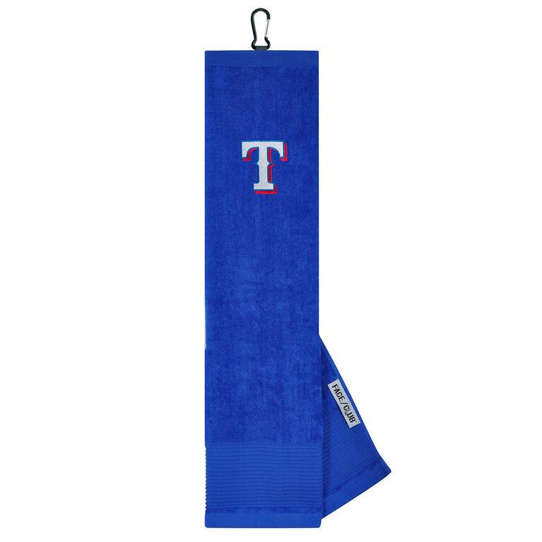Team Effort Texas Rangers Tri-fold Embroidered Towel