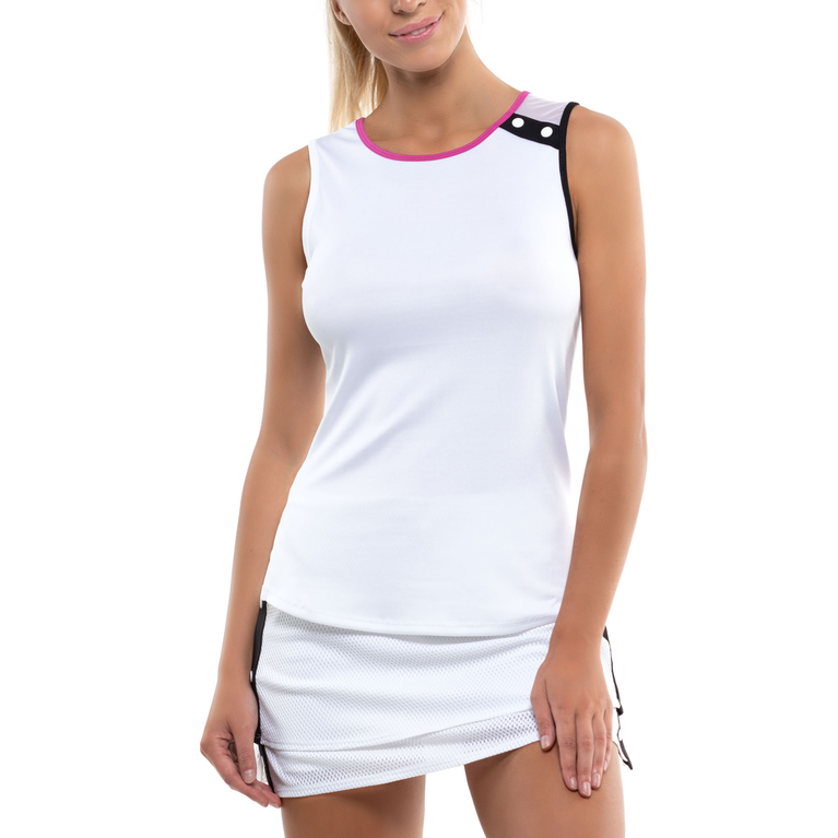 City Graffiti Collection: Cold Shoulder Tennis Tank Top