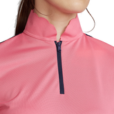 Alternate View 2 of Short Sleeve Mesh Mix Quarter Zip Polo Shirt