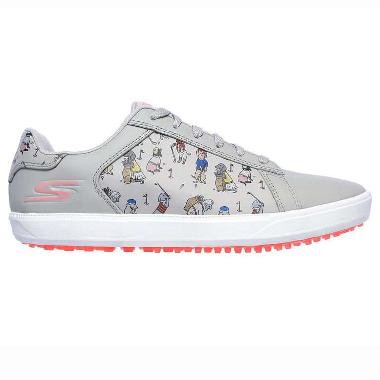 GO GOLF Drive 4 Dogs at Play Women's Golf Shoe - Grey/Pink