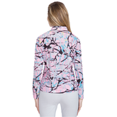 Alternate View 1 of Sunsense: Complexity Print Quarter Zip Pull Over