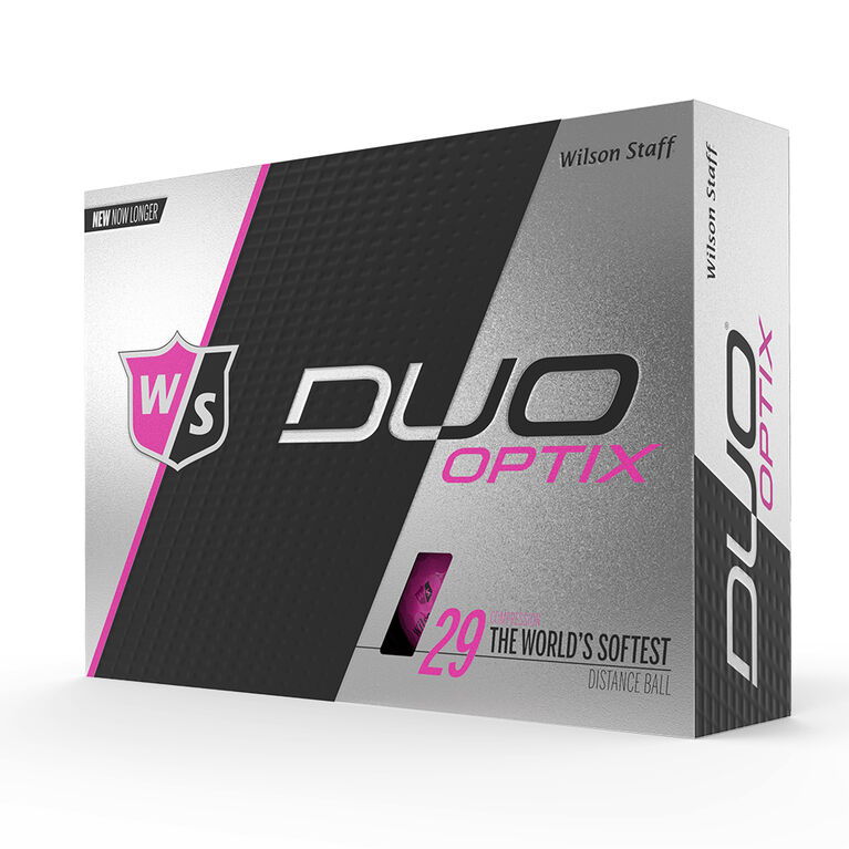 Wilson Staff DUO Soft Optix Pink Golf Balls - Personalized