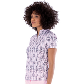 Alternate View 1 of Dynamo Collection: Snake Print Short Sleeve Mock Collar Top