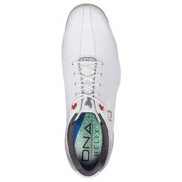 FootJoy D.N.A. Helix Men's Golf Shoe - White/Silver