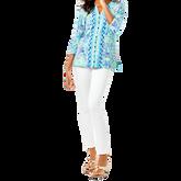 Alternate View 1 of Karina Blue Ibiza 3/4 Sleeve Print Tunic
