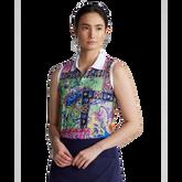 Performance Sleeveless Printed Polo Shirt