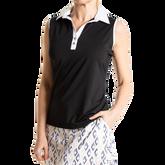 Alternate View 2 of Sleeveless Contrast Trim Polo Shirt