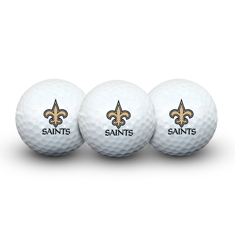Team Effort New Orleans Saints Golf Ball 3 Pack