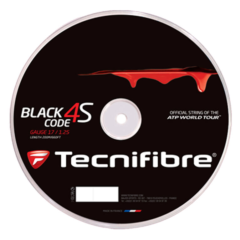 Tecnifibre Black Code 4S 17 Gauge String Reel - Black