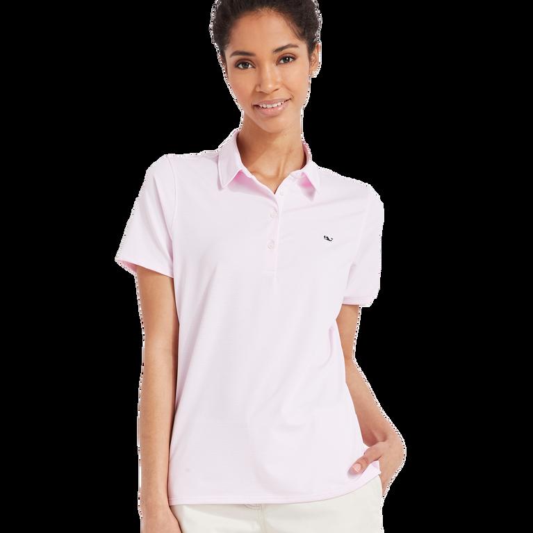 Heather Striped Short Sleeve Polo Shirt