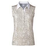 Almond Collection: Daphie Almond Sleeveless Polo Shirt