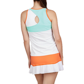 Alternate View 1 of Love at First Serve Collection: Sleeveless High Neck Mesh Tank Top
