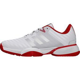 adidas Barricade xJ Junior's Tennis Shoe - White/Red
