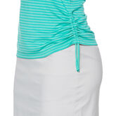 Aqua Group - Sleeveless Tonal Stripe Mock Top
