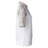 Alternate View 1 of Almond Collection: Daphie White Polo Shirt