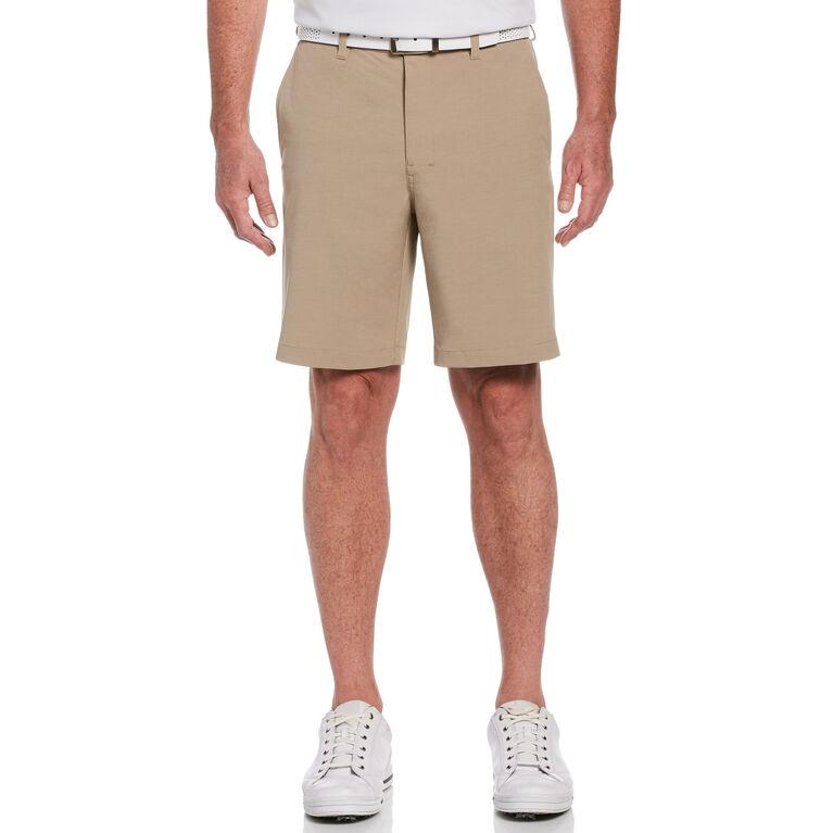 Flat Front Horizontal Textured Golf Short