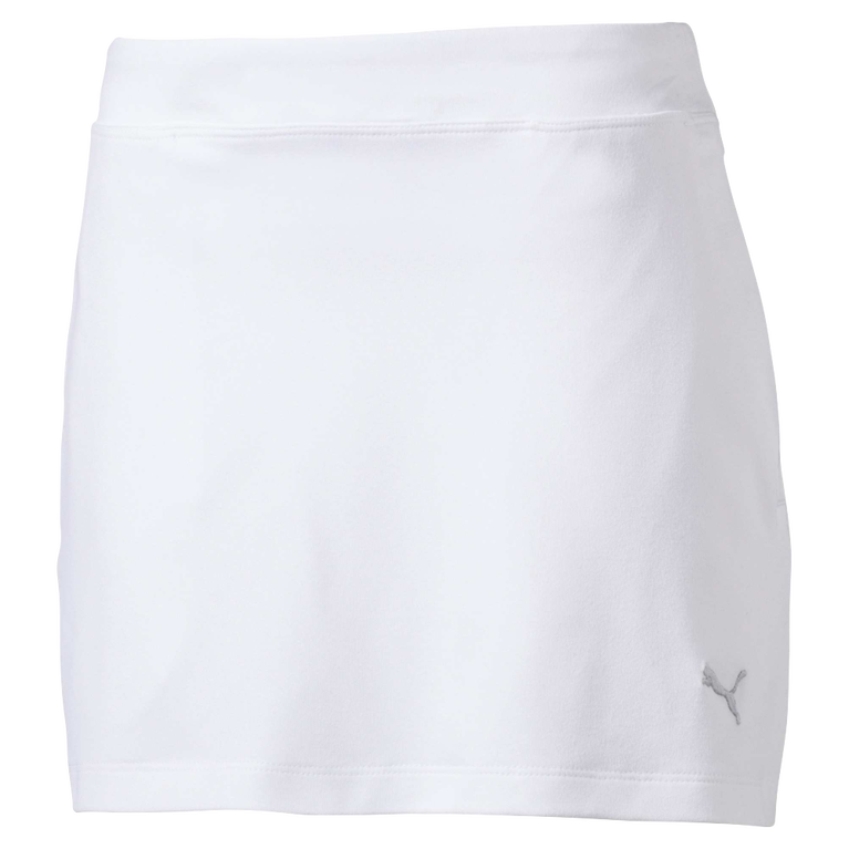 Girls Solid Knit Golf Skirt