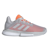 Solematch Bounce Women's Tennis Shoe - Grey/Orange