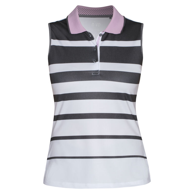 Nivo Sports Sleeveless Multi Stripe Polo