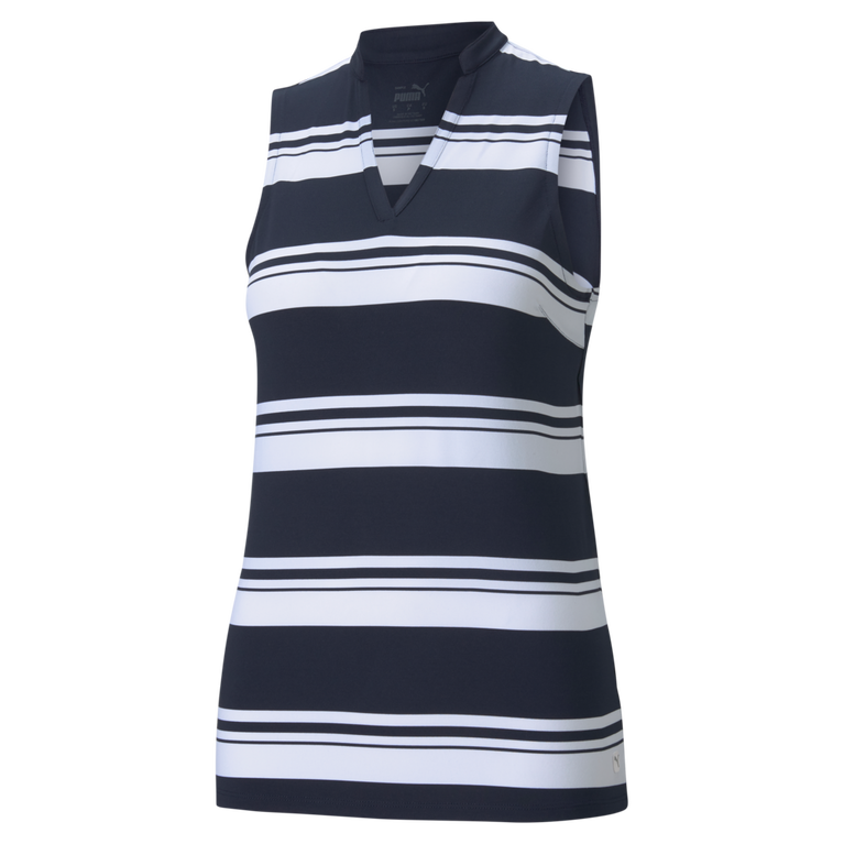 Valley Stripe CLOUDSPUN Sleeveless Polo