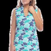 Alternate View 2 of Mystic Sleeveless Coral Print Scallop Dress