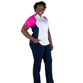 Alternate View 6 of Rojito Collection: Short Sleeve Colorblock Zip Top