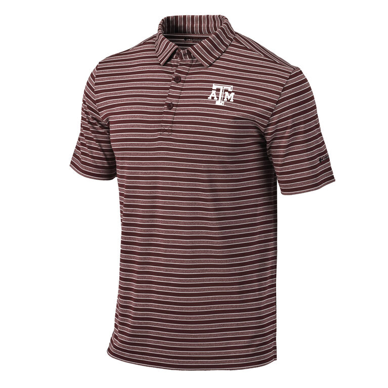 Columbia Texas A&M Member Stripe Polo