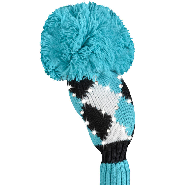 Just 4 Golf Sparkle Diamond Turquoise Hybrid Headcover